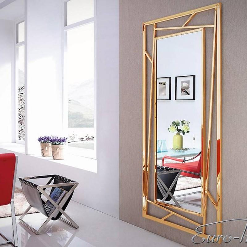EUH - GG-1019B design fali tükör arany színben 85x180