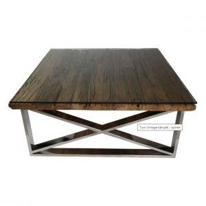 CI - Rixos fafurnéros dohányzóasztal 100x100 cm