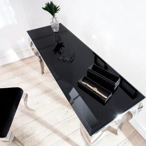 CK - Polus konzolasztal fekete üveggel