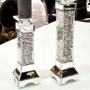 EUH - TMZ146 kristályos gyertyatartó 45,5 cm