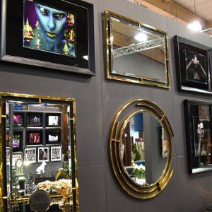 EUH - LW6835 design fali tükör arany színben 62x180
