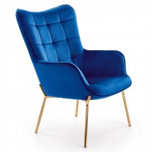 Halmar - Castel II fotel blue velvet