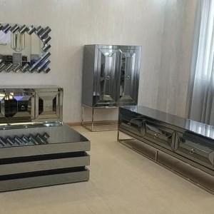 CI - Ford tükrös TV szekrény beépített kandallóval