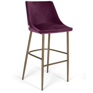 MOB - Alberta fém lábas bárszék 78 cm purple velvet