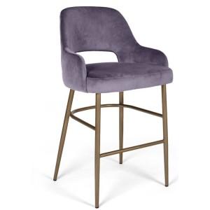 MOB - Clark fém lábas középmagas bárszék 65 cm purple velvet