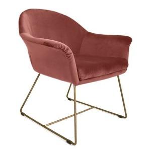 MOB - Form fotel pink velvet