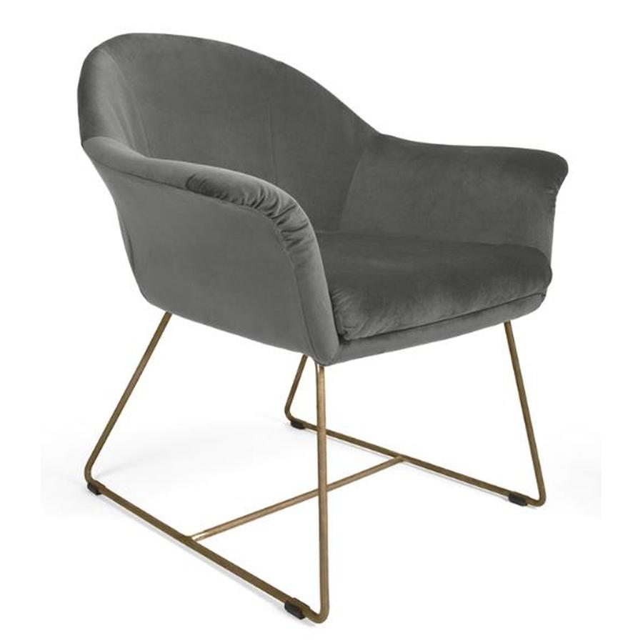 MOB - Form fotel grey velvet