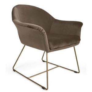 MOB - Form fotel brown velvet