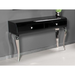 EUH - JSF478 fekete tükrös fésülködőasztal