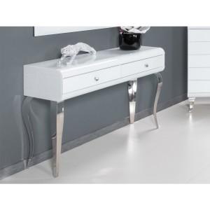 EUH - JSF478 fehér tükrös fésülködőasztal