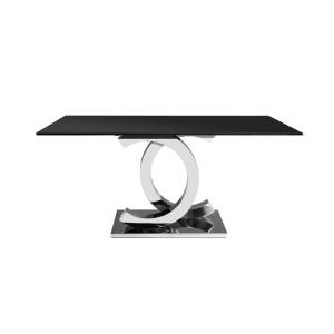 EUH - CT2020 étkezőasztal fekete üveglappal