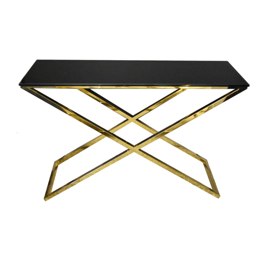 EUH - GG-1006 arany-fekete konzolasztal