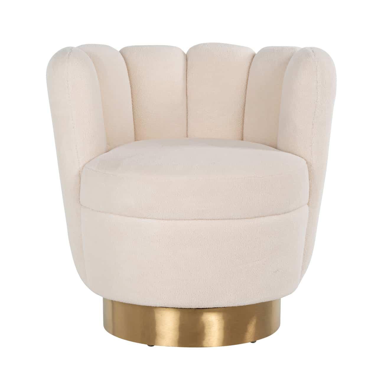 RI - S4487 fotel white velvet
