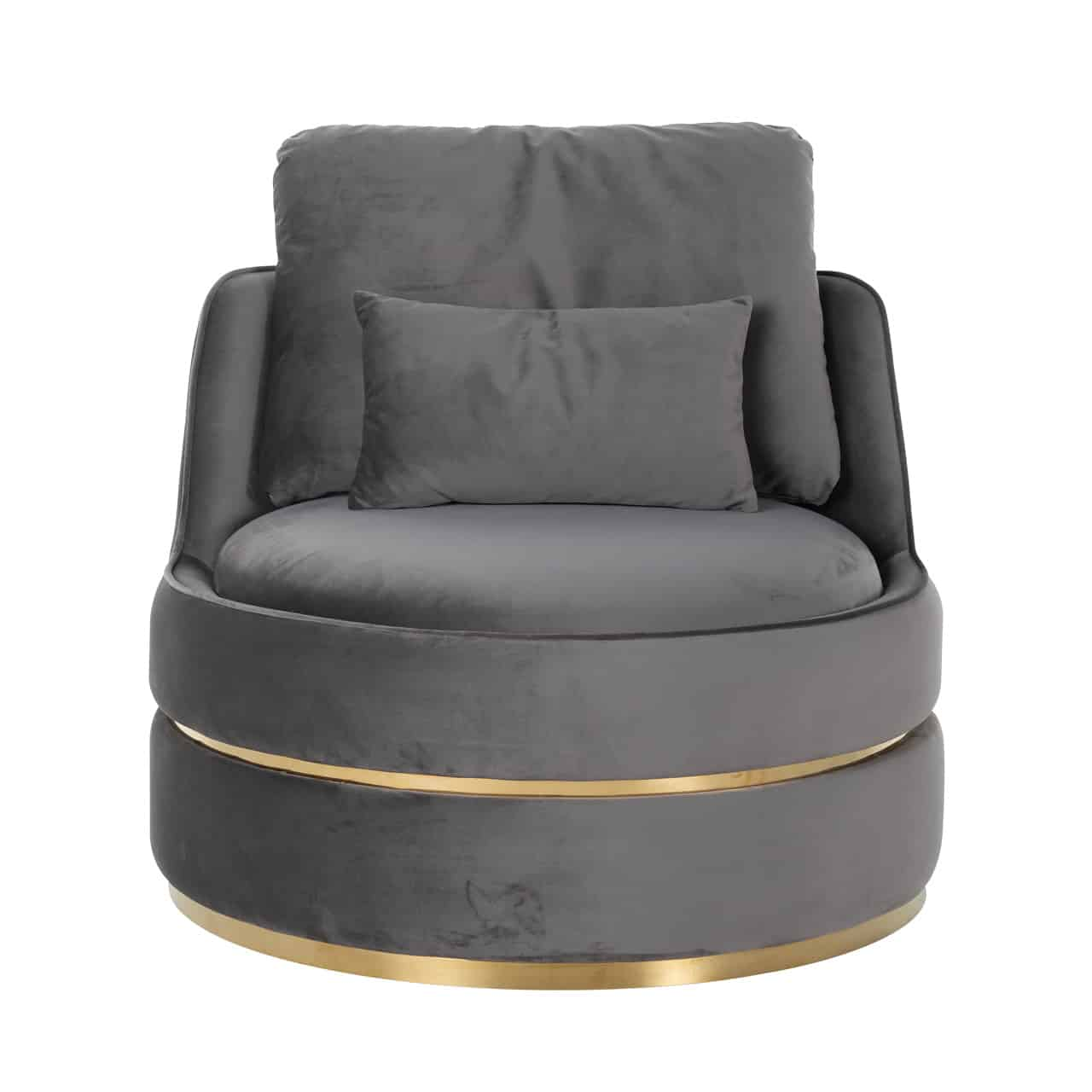 RI - S4491 fotel grey velvet