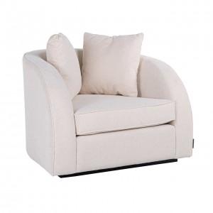 RI - S5123 fotel white velvet