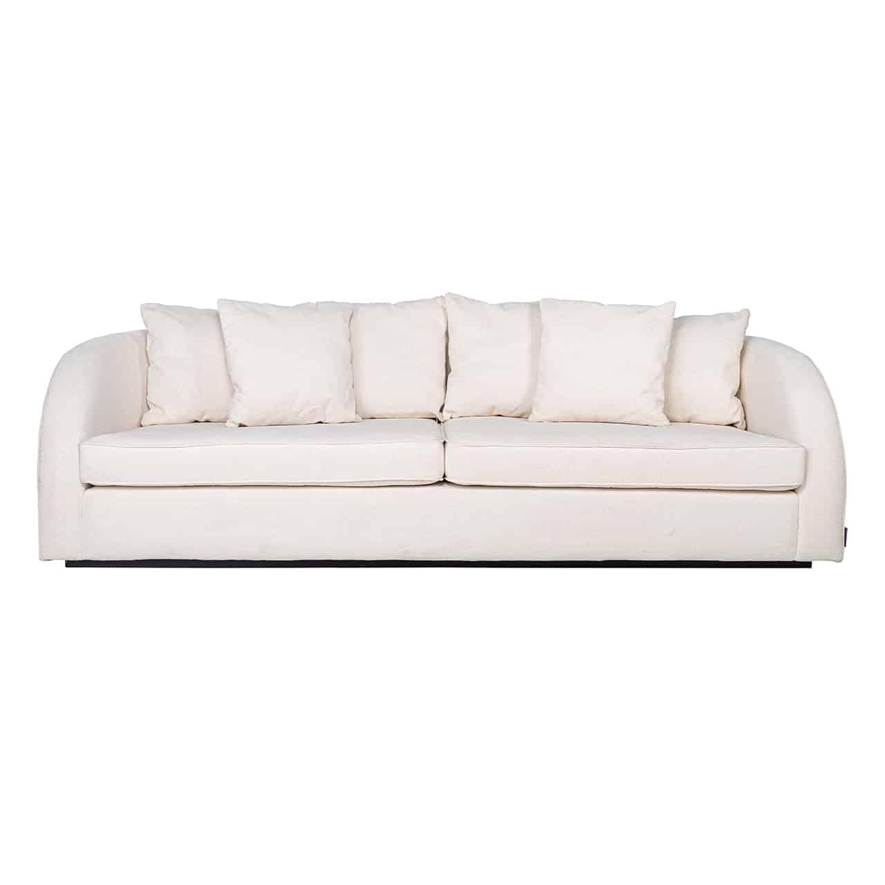 RI - S5124 kanapé white velvet