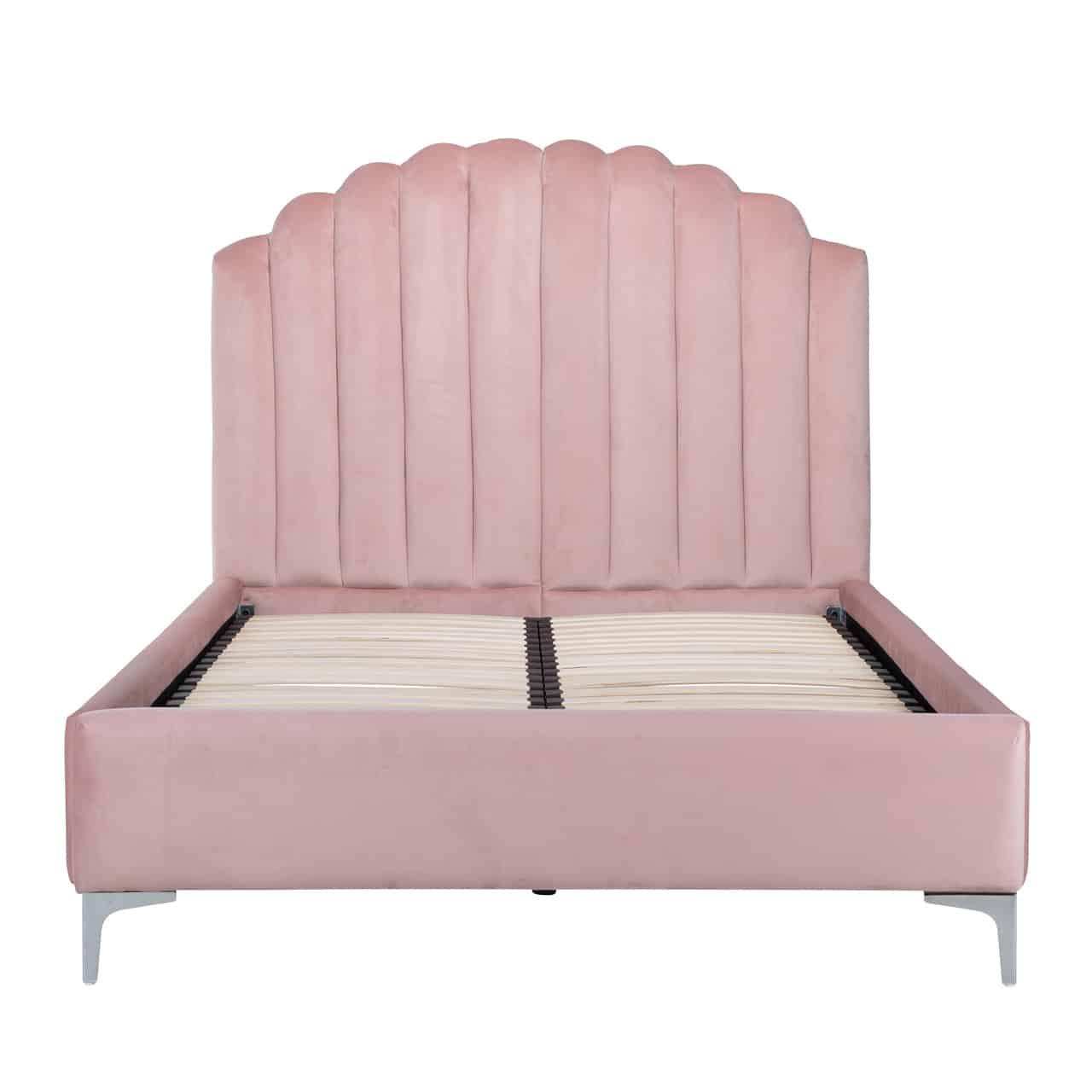 RI - S6001 egyszemélyes ágy pink velvet