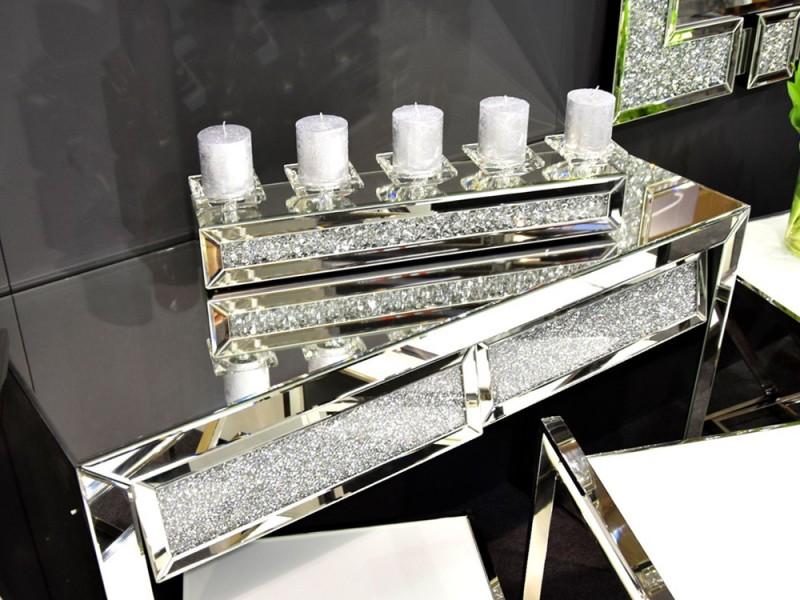 EUH - TMZ150 kristályos gyertyatartó 61x10,5 cm