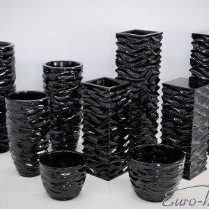 EUH - 2085/3 fekete színű kaspó 100 cm