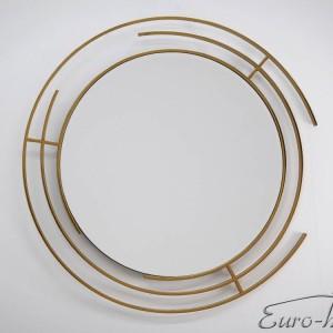 EUH - LW6856 design fali tükör arany színben 92x92